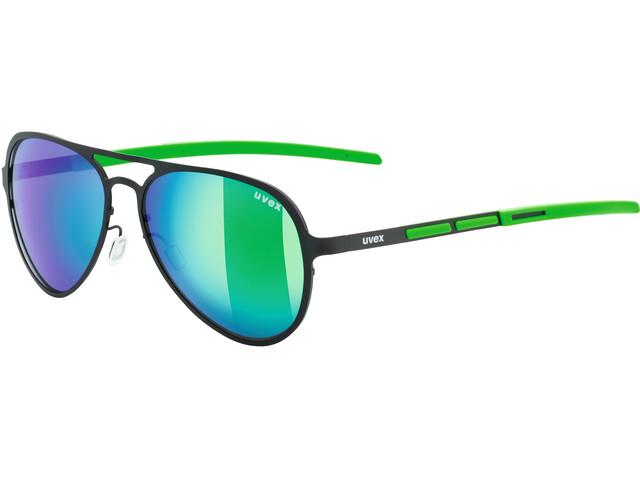 UVEX LGL 30 Pola Lifestyle Glasses black green/mirror gree